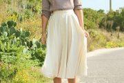 Conjuntos elegantes con faldas a media pierna, perfectos!