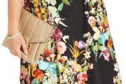 Vestidos floreados para chicas gorditas, elegantes modelos