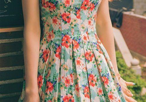 Vestidos floreados de diario