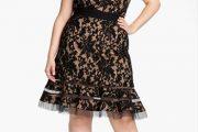Preciosos modelos de vestidos de encaje para gorditas
