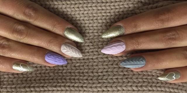 diseños sueter uñas