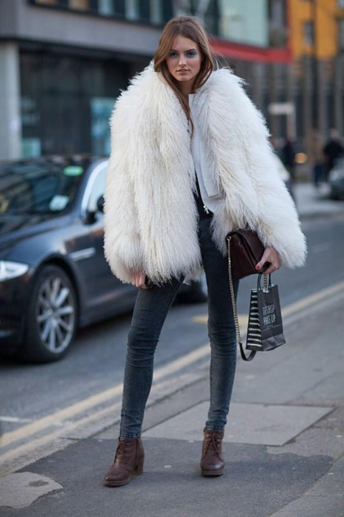 abrigos peludos moda