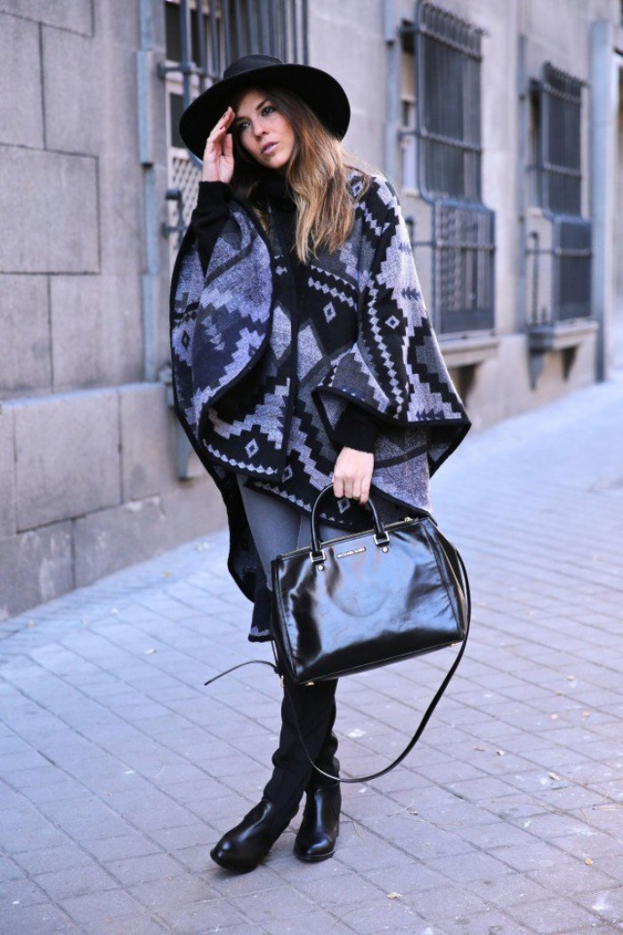 ponchos moda capas