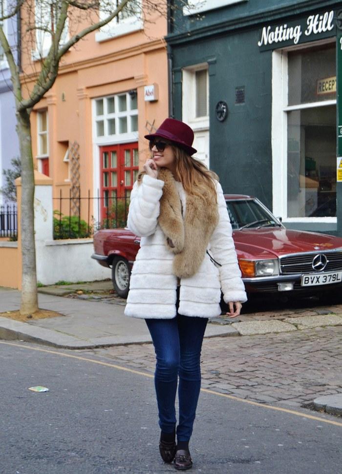 abrigos blancos invierno