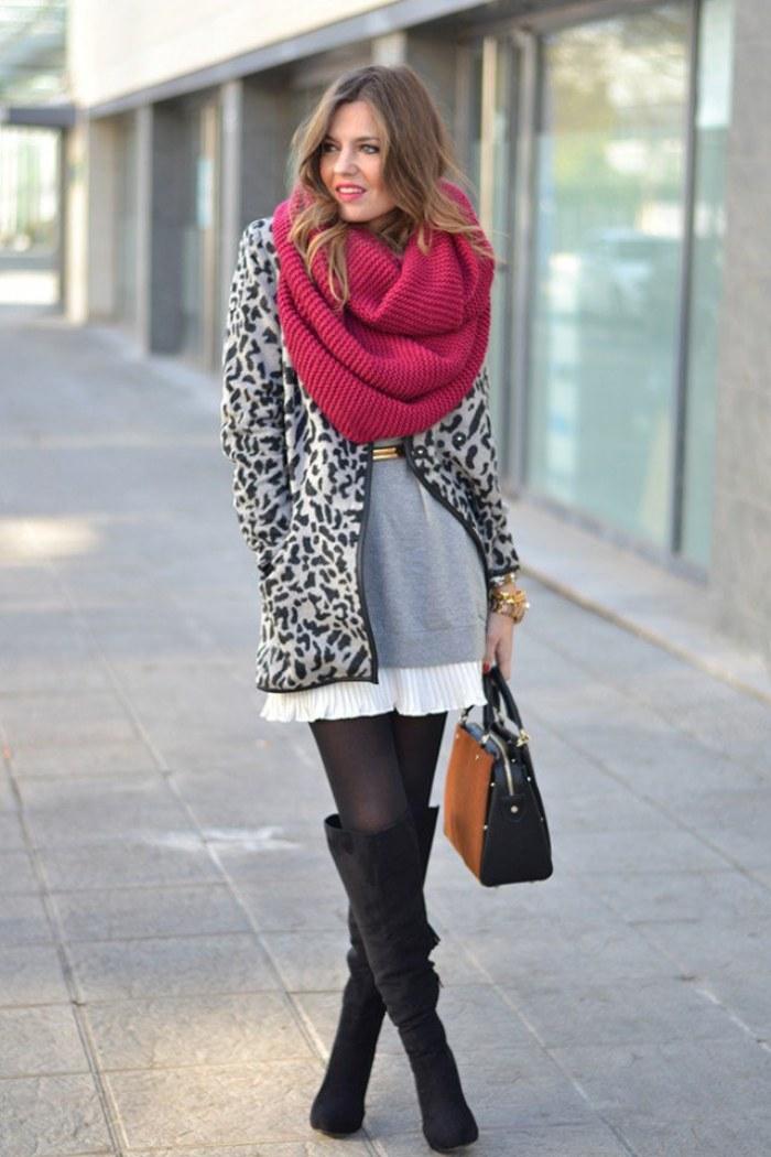 outfits bufandas invierno