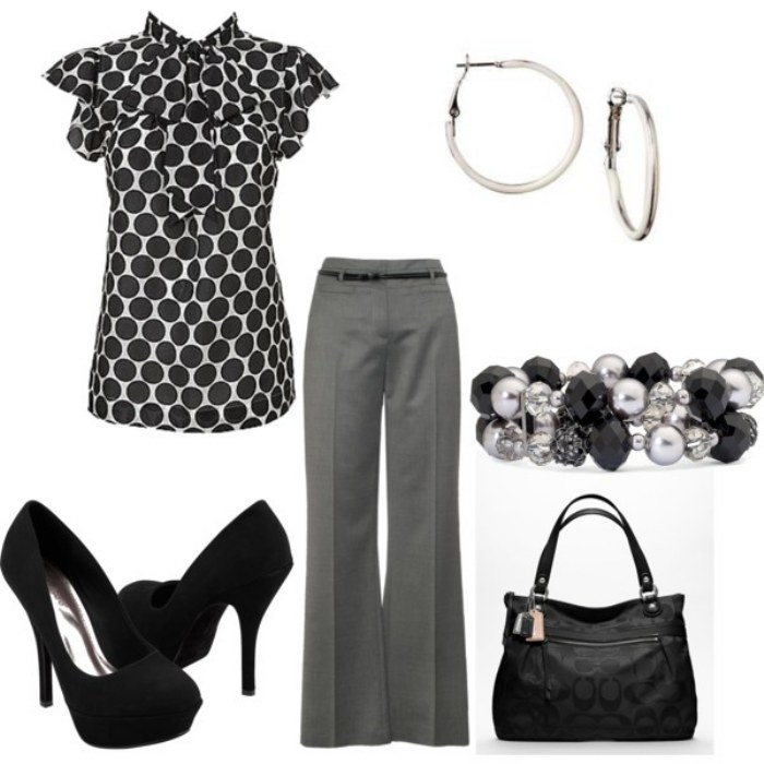outfits trabajos polyvore