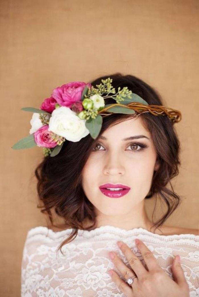 peinados flores novias
