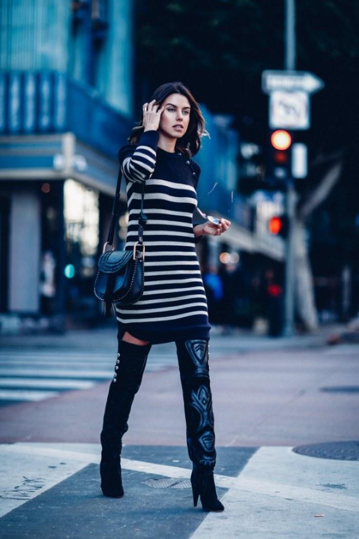 vestidos tejidos lana