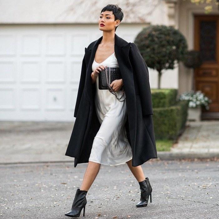 vestidos slip moda