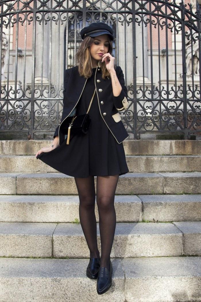 botas negras y vestido negro – vestidos baratos