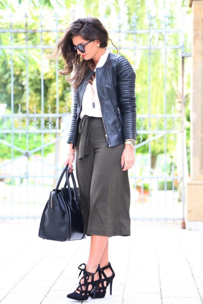 pantalones culottes moda