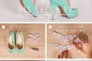 Lindas ideas DIY para decorar el tacón de tus zapatos altos