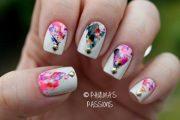 Nueva tendencia en diseños de uñas con efecto de salpicaduras