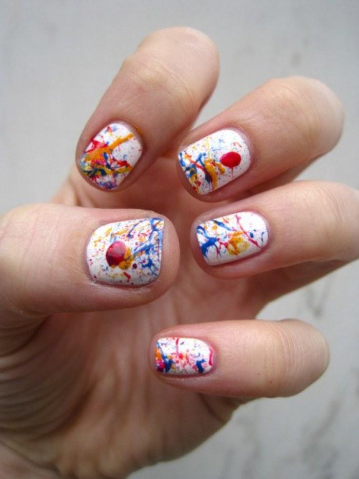 diseño uñas salpicaduras
