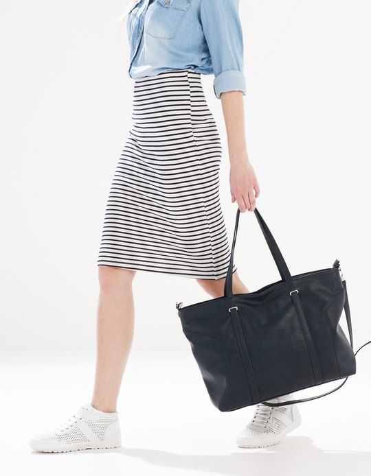 faldas rayadas de moda