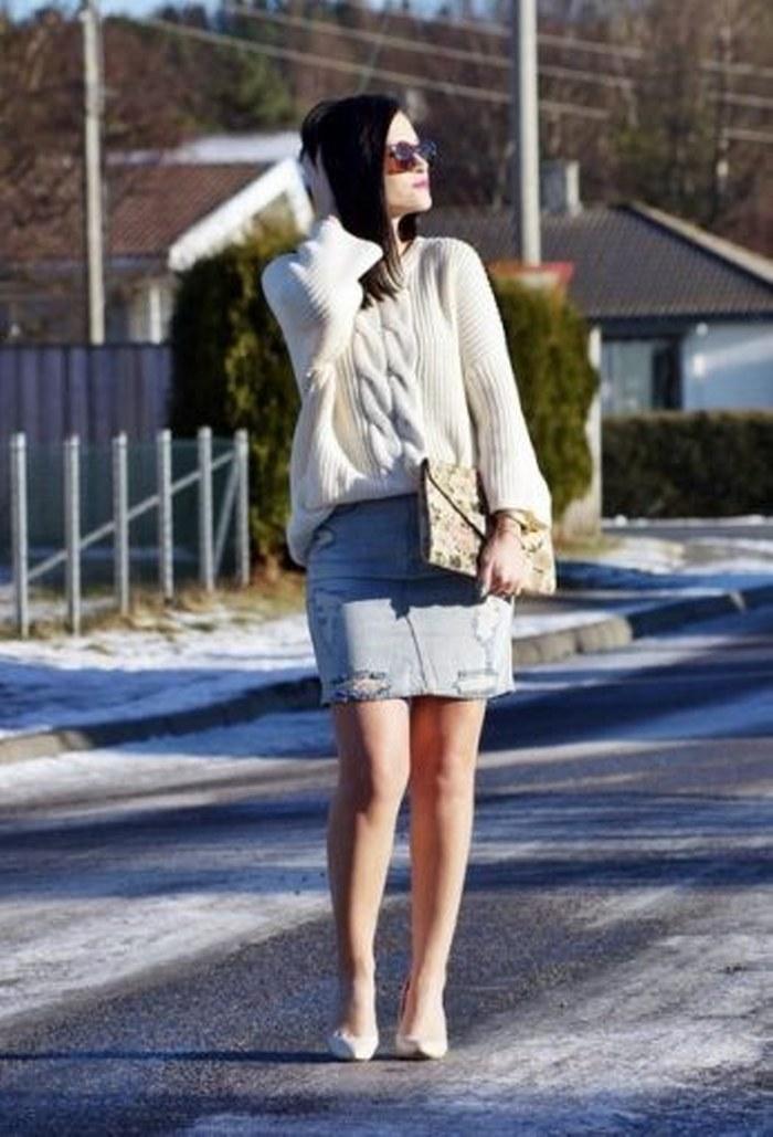 Estas son las maneras como puedes combinar la falda de mezclilla