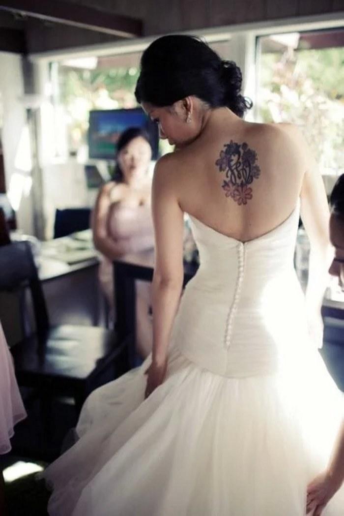 Estas novias te enseñarán cómo puedes usar tus tatuajes el día de tu boda