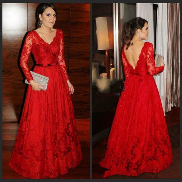 Vestidos de noche color rojo para gorditas